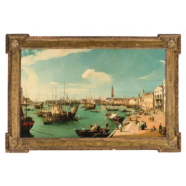 "JAMES,WILLIAM ""Vista de Venecia. Riva degli Schiavoni mirando al oeste"""